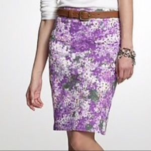 J. Crew Watercolor Floral Skirt